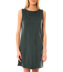 korte jurk petit bateau robe femme 3 boutons en molleton fleece vert