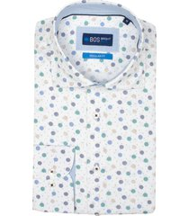 bos bright blue darwin overhemd korte mouw rf 21107da39bo/500 multicolour