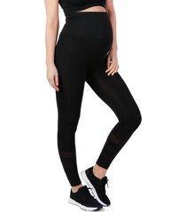cache coeur maternity/nursing sport leggings, size medium in black at nordstrom