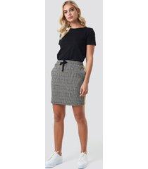 na-kd jacquard check skirt - multicolor