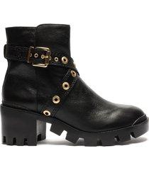cinder leather bootie - 11 black vegetal soft