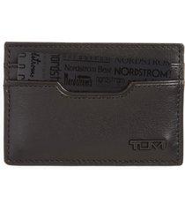 tumi delta id lock(tm) shielded slim card case & id wallet in black at nordstrom