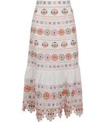 zimmermann brighton embroidered skirt