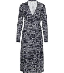 bypemmy wrap dress - knälång klänning blå b.young