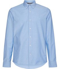 camisa slim fit stretch oxford azul calvin klein