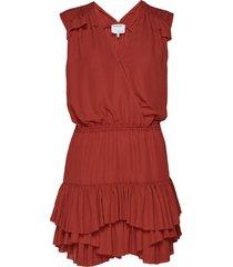 byron ruffle shirt kort klänning röd designers, remix