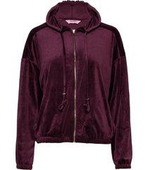 jacket hoodie velours zip hoodie lila hunkemöller