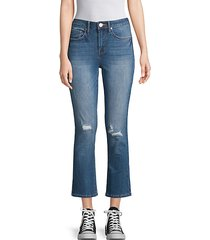 high-rise flared cropped jeans