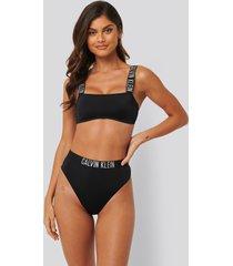 calvin klein cheeky bikini med hög midja - black