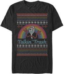 fifth sun men's talkin trash sweater short sleeve crew t-shirt