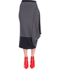 j.w. anderson striped asymmetric skirt