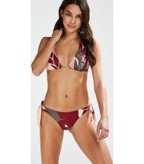 hunkemöller print game brazilian-bikiniunderdel rosa