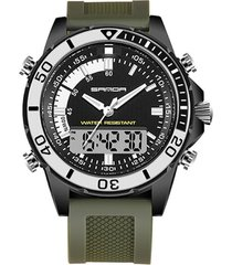 reloj deportivo digital cuarzo sanda sd-003 hombre verde