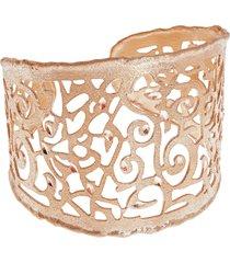 bracciale bangle big in bronzo rosato satinato per donna