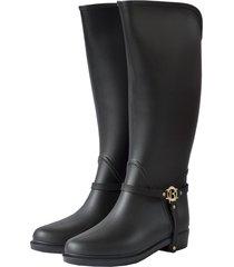 botas de lluvia impermeable golden insignia bottplie - negro