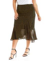 plus size women's estelle queen of hearts bias cut skirt