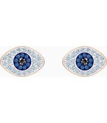orecchini stud swarovski symbolic, azzurro, placcato oro rosa