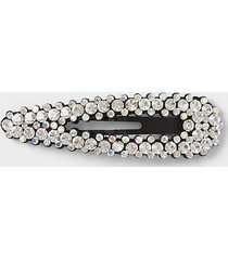 river island womens black diamante embellished hair clip