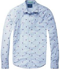 lichtblauw heren overhemd scotch & soda - 136349