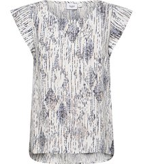 eleiasz top blouses short-sleeved multi/mönstrad saint tropez