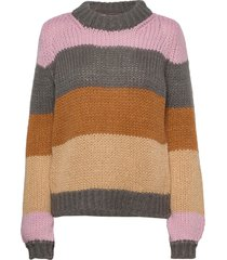 nubejouhi pullover stickad tröja multi/mönstrad nümph