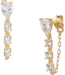 gabi rielle women's love is love teardrop crystal frontback earrings