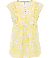blouse met korte mouwen en oversized schouders