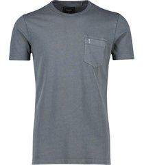 butcher of blue t-shirt grijs borstzakje