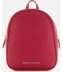 armani exchange women's mini backpack - royal red