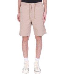 maharishi shorts in beige cotton