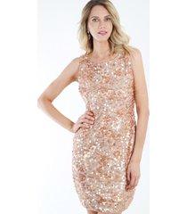 vestido de lentejuela damasco night concept