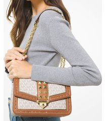 michael michael kors women's soho large shoulder bag - vanilla/acorn