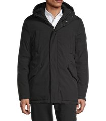 roberto cavalli men's hooded winter jacket - nero - size xxl