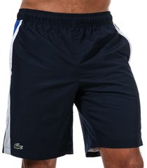 mens tennis contrast cut-out shorts