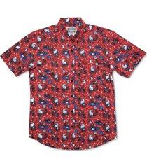 rsvlts men's grills, chills & bills regular-fit printed shirt