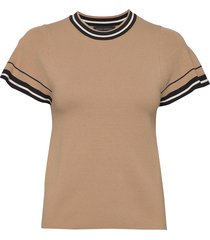 flutter-sleeve sweater top t-shirts & tops knitted t-shirts/tops beige banana republic