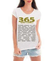 t-shirt criativa urbana camiseta com renda feliz ano novo réveillon 365 dias