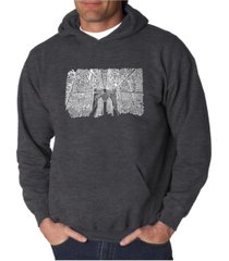 la pop art men's word art hoodie - brooklyn bridge