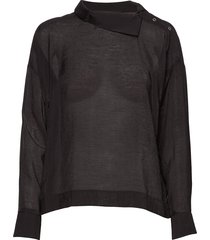 lixiw blouse blouse lange mouwen zwart inwear