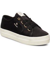 leisha low lace shoes låga sneakers svart gant