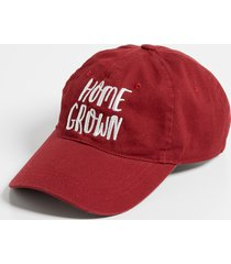 maurices womens maroon home grown baseball hat red