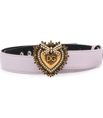dolce & gabbana devotion belt - pink