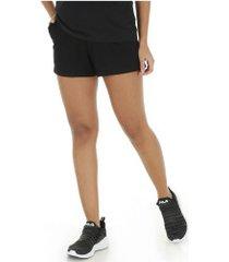 shorts fila letter back - feminina - preto