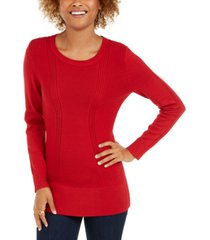 style & co mixed-stitch sweater, created for macy's