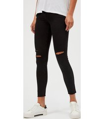 j brand women's 8227 mid rise cropped skinny jeans - black mercy - w30/l32 - black