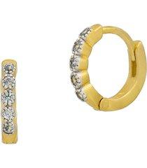 freida rothman brooklyn coast huggie hoop earrings in silver/gold at nordstrom