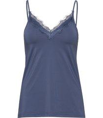 strap top t-shirts & tops sleeveless blå rosemunde
