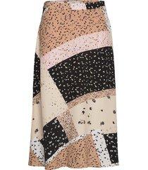 ihdaphnie sk knälång kjol multi/mönstrad ichi