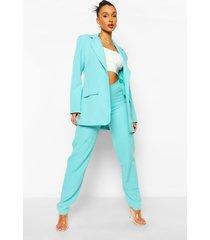 baggy broek met v-taille, turquoise