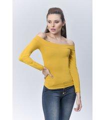 blusa dama mostaza di bello jeans  classic blouse ref b234